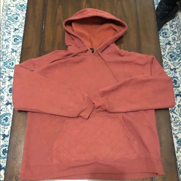 Wild Fable XL Hoodie Quilted pouch Rust color XL
